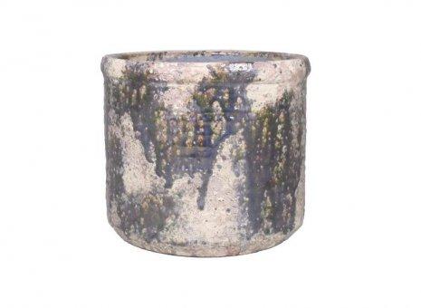 Bloempot cilinder Boris groen