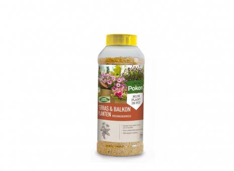 Pok. Terras & Balkon Planten Voedingskorrels 1800gr