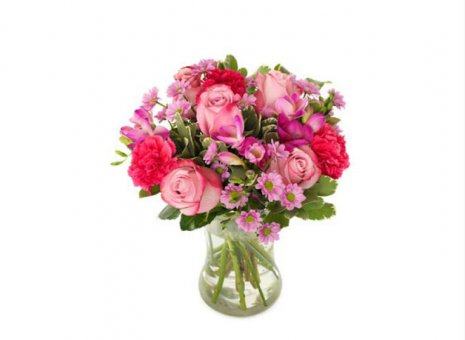 Boeket rood/roze