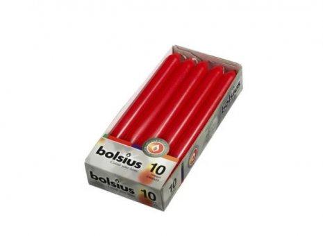 Bolsius dinerkaars rood 10 stuks