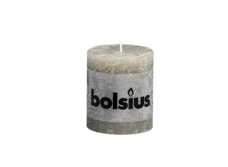 Bolsius stompkaars rustiek kiezel grijs