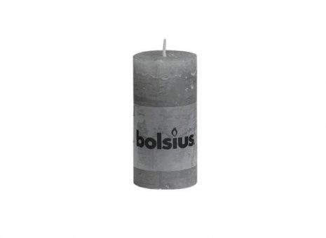 Bolsius stompkaars rustiek licht grijs