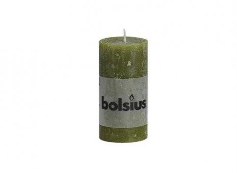 Bolsius stompkaars rustiek olijf groen