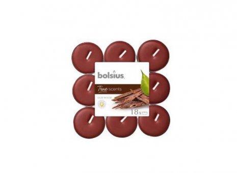 Bolsius waxinelichtje oud wood 18x