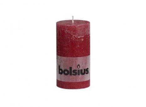 Bolsius stompkaars rustiek wijnrood