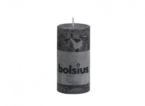 Bolsius stompkaars rustiek zwart